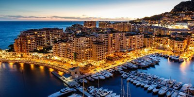 Sm 400 fontvieille fontvieille principaut de monaco monaco cte dazur french riviera town sea yacht house buildings night lights